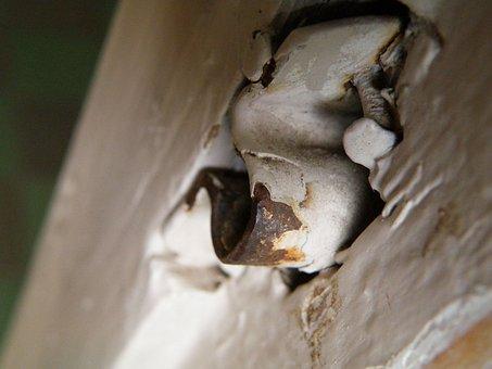 Latch, Door Latch, Texture, Wood, Steel, Bars