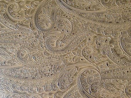 Wallpaper, Paisley, Tan, Design, Textile, Ornate