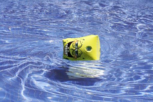 Sleeve, Sponge Bob, Pool, Water, Celeste, Swirl