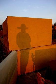 Man, Shadow, Human, Zorro, Wild West, Cuba, Shadow Play