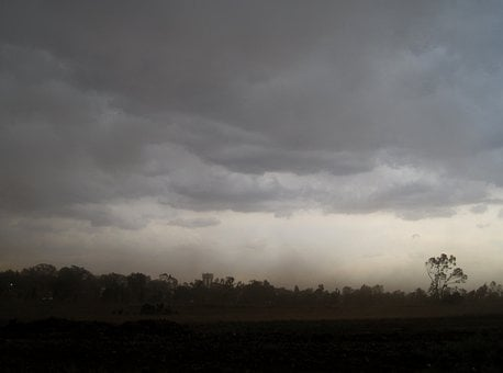 Storm, Ominous, Violent, Clouds, Dark, Low, Wind, Dust
