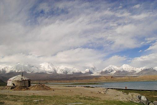 Landscape, Yurt, Lake, Nature, Travel, Asia, Culture