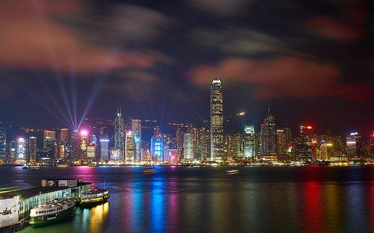 Hong Kong, Cityscape, Night, City, Architecture, Lights