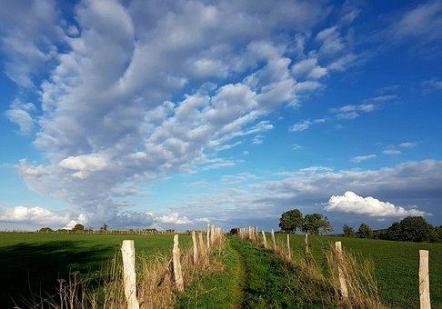 Landscape, Lane, Away, Reported, Nature, Depth, Fence