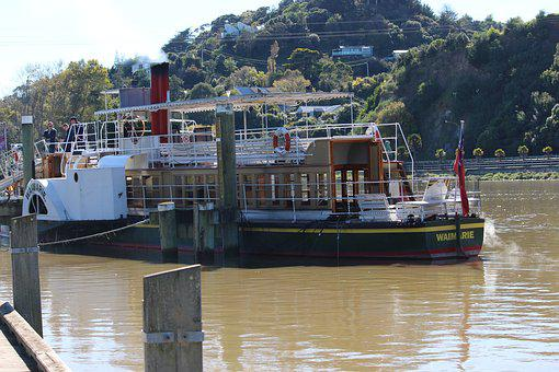 Riverboat, Steamboat, Paddle Steamer, Old Style, Boat
