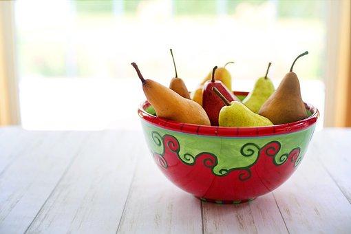 Pears, Bowl, Fruit, Food, Healthy, Fresh, Vitamins