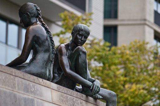Hotels In Berlin, Germany, Statue, Naked, Boy, Girl