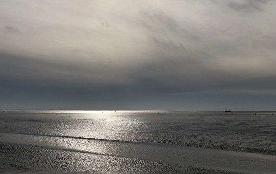 North Sea, Wadden Sea, Coastal Landscape, Lighting