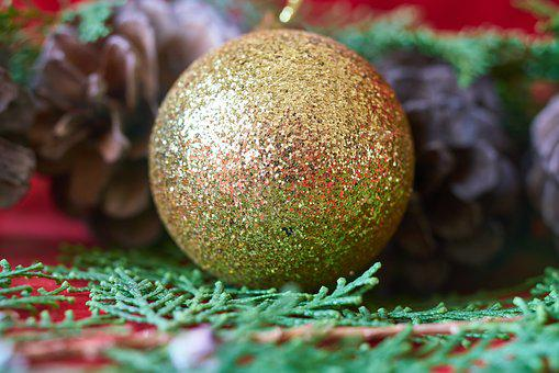 Ball, New Year, Ornament, Christmas, Gifts, Decoration
