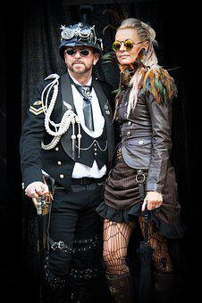 Steampunk, Gothic, Goth, Goth Festival, Whitby, Couple