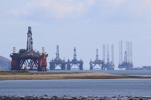 Oil Rig, Scotland, Cromarty Firth, Invergordon