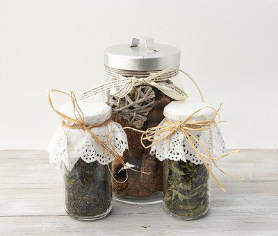 Cookie, Cookies, Jar, Tea Leaves