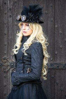 Goth, Gothic, Goth Festival, Pretty, Lady, Whitby