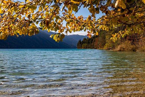 Austria, Lake Weissensee, Lake, Landscape, Carinthia