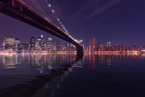 Brooklyn Bridge, New York, Skyline, Cityscape, Landmark
