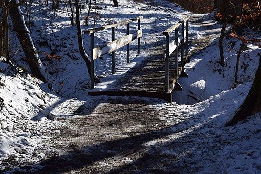 Winter, Bridge, Snow, Nature, Cold, Landscape, Frost