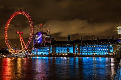 London Eye, London, Ferris Wheel, Attraction, Landmark