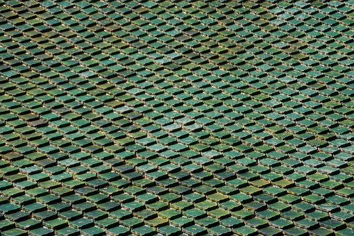 Tiles, Roof, Tenerife, Loropark, Green, Imposing