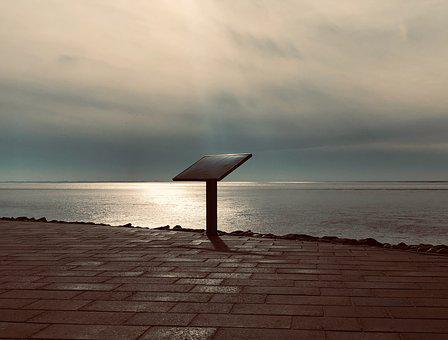 North Sea, Watts, Landscape, Lighting, Board, Light