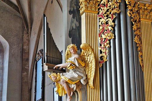 Organ, Freiberger Dom, Angel