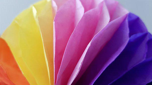 Color, Rainbow, Origami, Colors, Background, After
