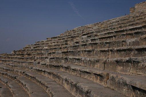 Hierapolis, Turkey, Pamukkale, Amphitheater, Ancient