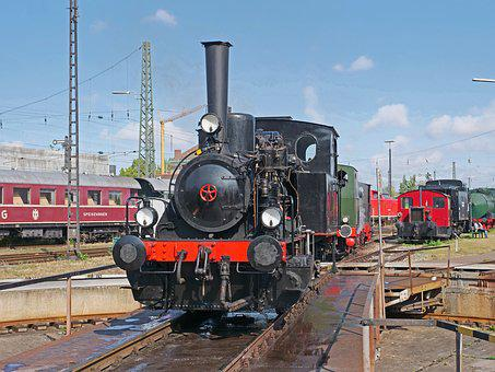 Steam Locomotive, Hub, Railway Museum, Nördlingen
