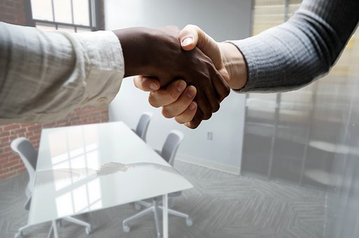 Job, Interview, Hiring, Hand, Shake, Office, Table