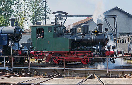 Steam Locomotive, Hub, The Bavarian Railway Museum