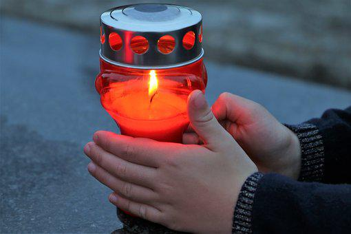 Stop Adult Suicide, Candle In Child Hands, Stayed Alone