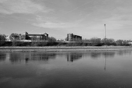 River, Poznan, Architecture, Poland, Summer