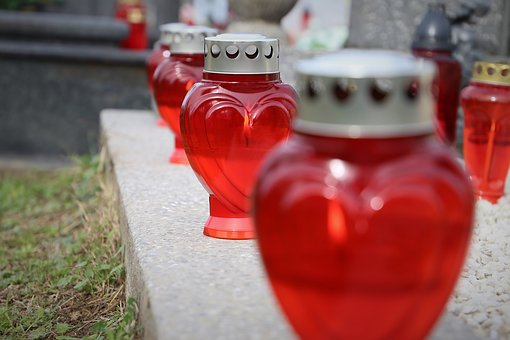 All Saints Day, Svi Sveti, Red Candles, Loving Memory