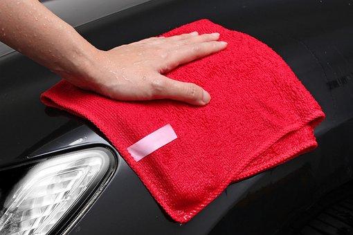 Microfiber, Towel, Cloth, Red, Car, Carwash, Washing