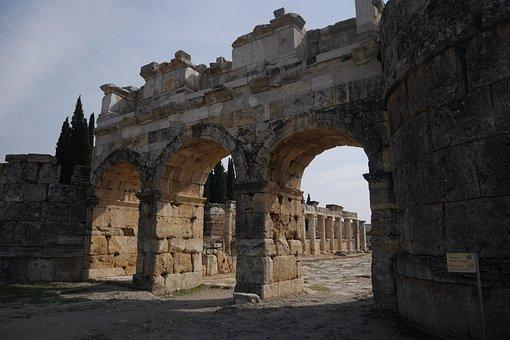 Hierapolis, Turkey, Ancient, Pamukkale, Architecture