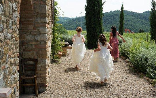 Bridesmaids, Chapel, Ceremony, Wedding