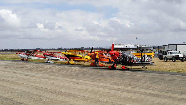 Airshow, Airplanes, Prop Planes, Fleet, Day, Runway