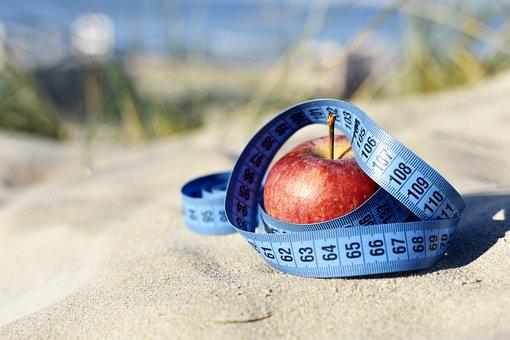 Motivation, Apple, Measure, Blue Tape, Vitamins