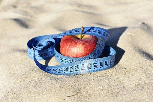 Red Apple, Measure, Diet, Apple Outside, Beach