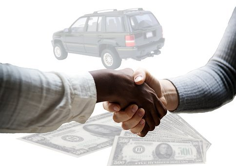 Car, Sale, Handshake, Agreement, Sold, Dollar, Bills
