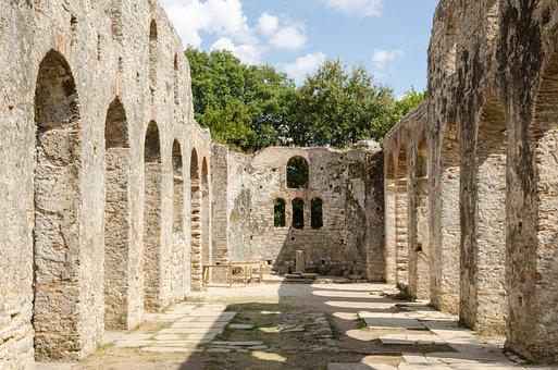 Albania, Butrint, Summer, Places Of Interest, Ruins