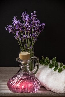 Wellness, Carafe, Purple, Vase, Herbs, Massage, Spa