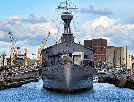 Belfast, Ship, Caroline, Landing Bridge, Warship, Navy