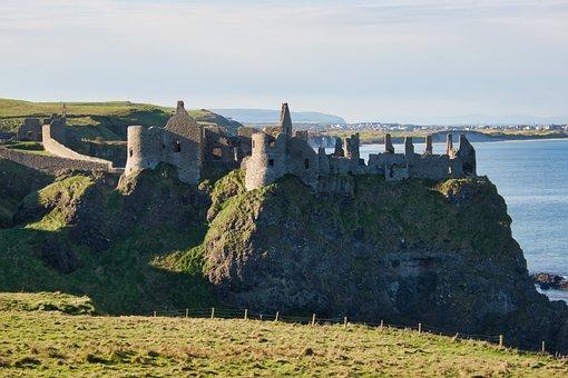 Dunluce, Castle, Northern Ireland, Coast, North Coast