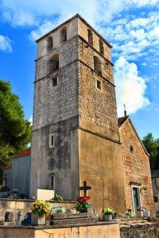 Church, Belfry, Steeple, Chapel, Graveyard, Cemetery