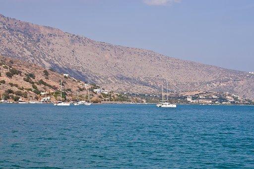 Greece, Crete, Sea, Coast, Boats, Desert, Drought