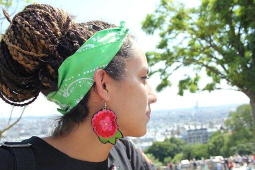 Young Woman, Hairstyle, Paris, Confidence, Portrait