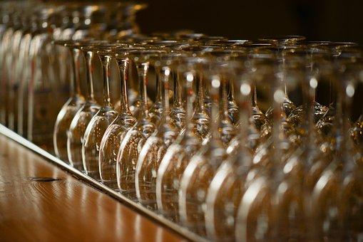 Wine, Glasses, Row, Glass, Alcohol, Drink, Celebrate