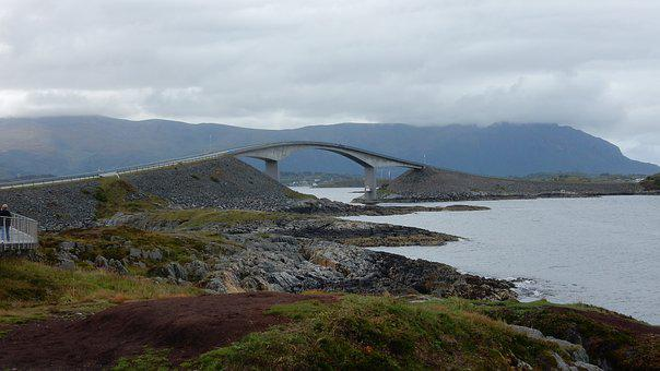 Norway, Bay, Elegant Bridge