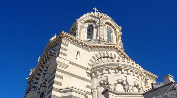 France, Marseille, Notre-dame De La Garde, Church