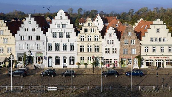 Friedrichstadt, Staircase, Gabled Houses